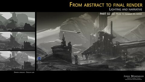 From abstract to final render : Lighting and narrative  PART 02