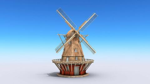 Copenhagen Windmill Low-poly 3D model