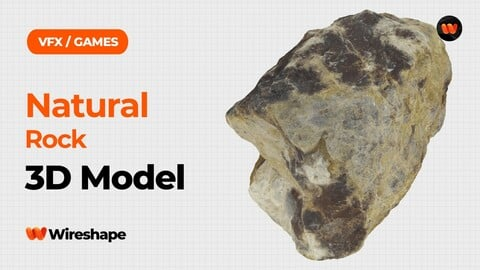 Natural Rock Raw Scanned 3D Model