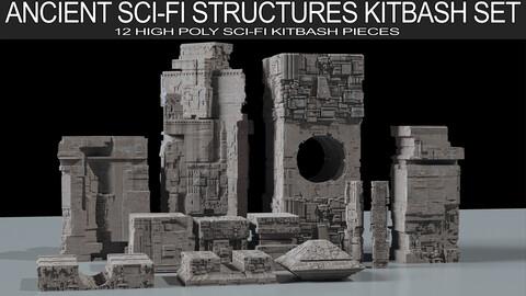 Ancient Sci-Fi  Kitbash 3D Assets