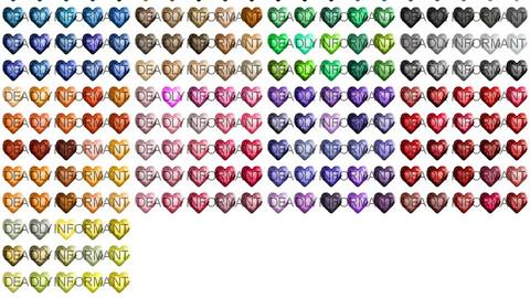 Heart Cut Gemstones [48x48]