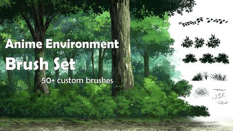 Anime Environment Brush Set