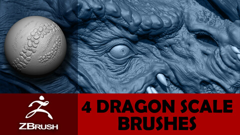 Dragon Scale Brushes and Alphas Pack 1