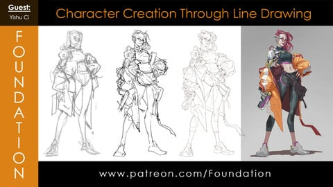 Foundation Art Group - Character Creation Through Line Drawing with Yishu Ci