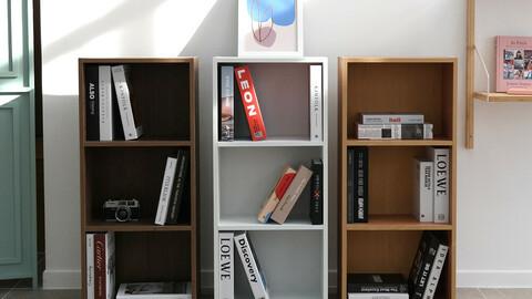 simple three-tier bookshelf