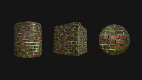 Stylized Wall 14 PBR Texture