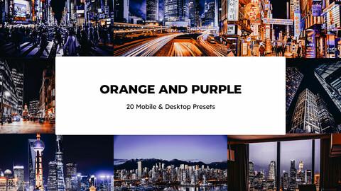 20 Orange and Purple LUTs and Lightroom Presets