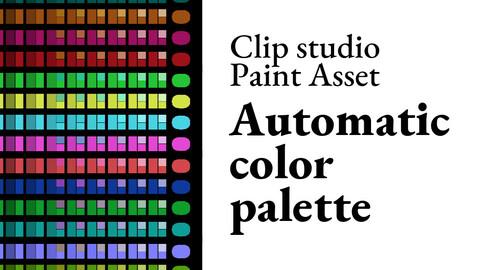 Clip Studio Paint asset - Automatic color palette