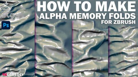 TUTORIAL - How To Make Memory Folds Alphas?! Bonus - 37 Alphas for ZBrush.