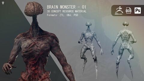 Brain Zombie 01 - Resource Material