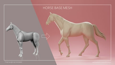 Horse Base Mesh - Blockout