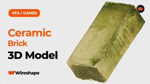 Ceramic Brick Raw Scanned 3D Model