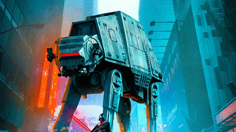 Star Wars Earth Battle Poster