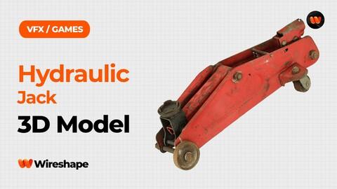 Hydraulic Jack Raw Scanned 3D Model