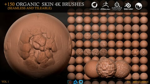 +150 4K Brushes Skin (Seamless and Tileable)