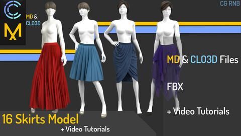 16 Skirt Models + Video Tutorials
