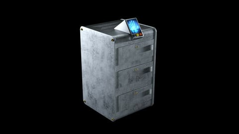 Sci-Fi Vault with fingerprint sensor