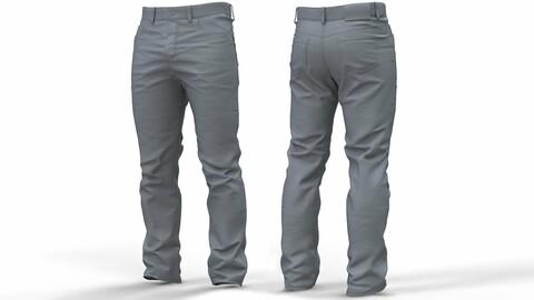 Mens Jeans pants (High Poly Model) (obj\ztl)