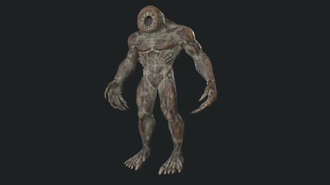 PBR Creature character 01 (low-poly)