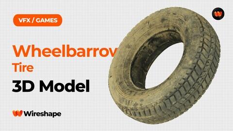 Wheelbarrow Tire Raw Scanned 3D Model