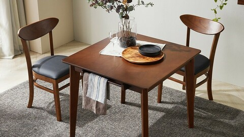 Mones rubber wood dining table set for two
