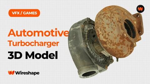 Automotive Turbocharger Raw Scanned 3D Model