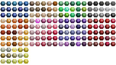 Hexagon Cut Gemstones [48x48]