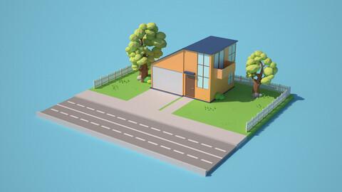Cartoon Style House
