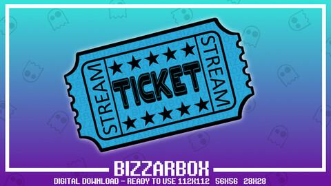 Twitch Emote: Blue Ticket