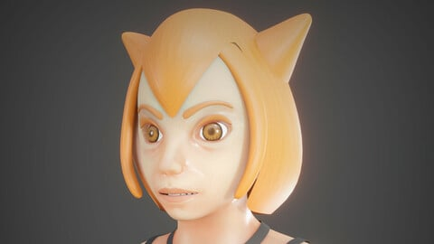 Anime character  , ready to rig