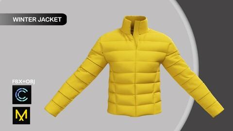 Female Winter Jacket. Marvelous Designer/Clo3d project + OBJ + FBX