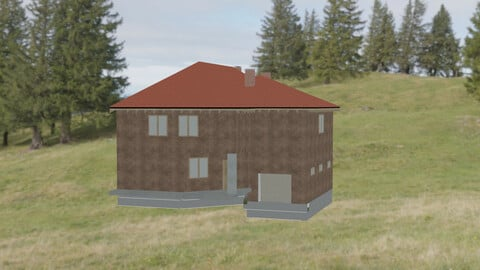 Low poly HOUS game redy Free low-poly 3D model Free low-poly 3D model