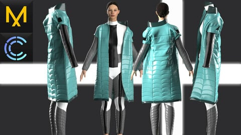 New concept Marvelous Clo3D CyberPunk Outfit Female