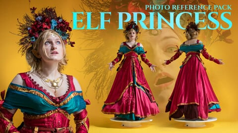Elf Princess Photo Reference Pack for Artists 477 JPEGs