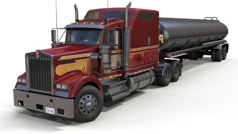 Kenworth W900 tanker trailer