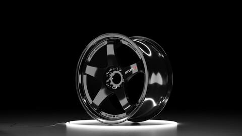 NISMO LMGT4 Car wheel 3D model