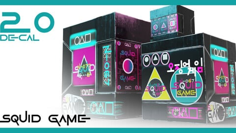 20 Squid Game Decal Set