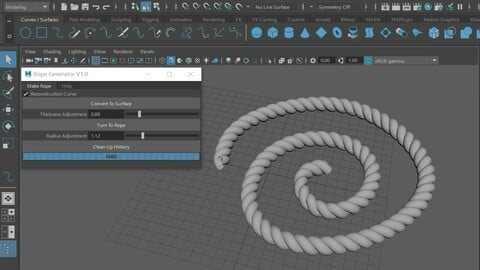 Plug in for tile and rope for Maya modeling