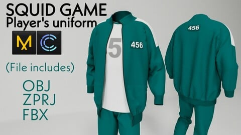 Squid game player's uniform