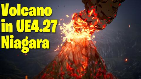 Volcano in UE4.27 Niagara