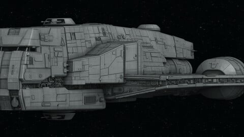 Imperial Gozanti-class cruiser 3D model