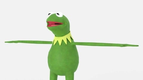 Kermit The Frog from The Muppets 3D Model