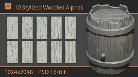 Stylized Wooden Alphas