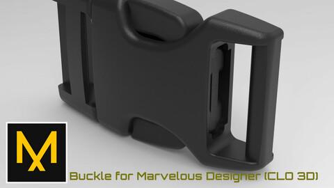Buckle for Marvelous Designer (CLO 3D)