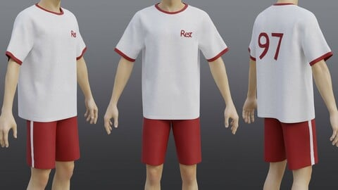 3D Male Sportwear Set - Graphic T-shirt and Shorts Tracksuit