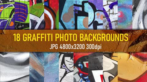 18 free graffiti texture photo backgrounds.