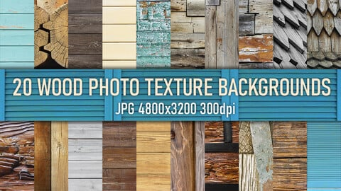20 wooden planks, roof and surface photo texture backgrounds.