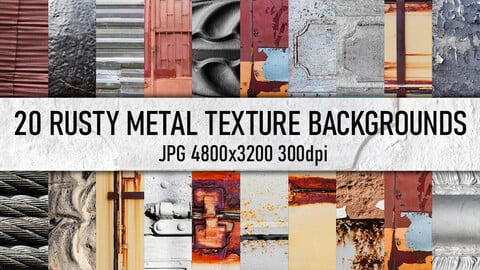 20 rusty metal surface photo texture backgrounds.