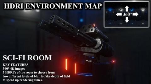 HDRI 360° Map Sci-Fi Room