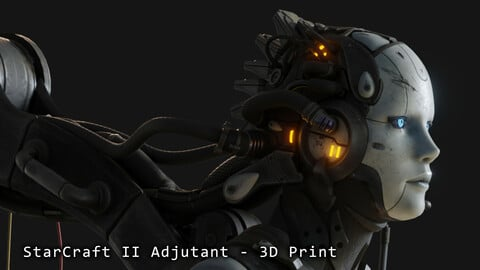Starcraft II Adjutant - 3D Print